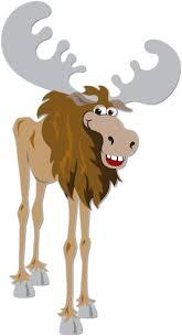 Image result for cartoon illustration of a smiling moose