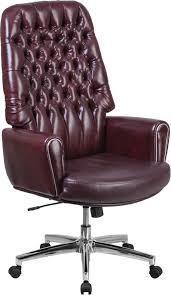 tufted leather executive office chair. High Back Traditional Tufted Burgundy Leather Executive Swivel Chair With Arms --- This Button Office Combines Old World Cra\u2026 M