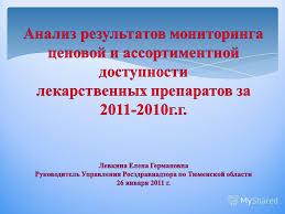 Презентация на тему Мероприятия i Мониторинг ценовой и  Контрольная деятельность Управления Росздравнадзора по Тюменской области в рамках возложенных действующим законодательством полномочий при проведении