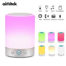Light Speaker Us 28 98 15 Off L7 Smart Light Portable Bluetooth Speaker Wireless Stereo Speaker Touch Control Color Change Led Bedside Table Lamp Fm Radio Mic In