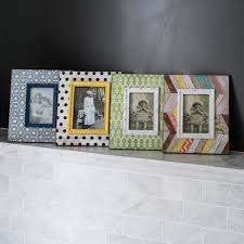 distressed wooden patterned photo frame
