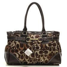 Discount Black Friday Coach Legacy In Signature Medium Coffee Satchels AAS