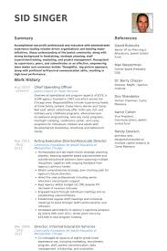 Chief Operating Officer Resume samples