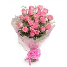 flbay pink roses bouquet fresh flowers in cellophane wrapping bunch of 8 in home kitchen