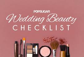 wedding hair and makeup checklist printable popsugar beauty middle east