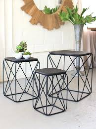 wire coffee table black wire side table 3 set wire base round coffee table