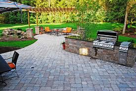 paver patio with pergola. Water Feature And Pergola Paver Patio With