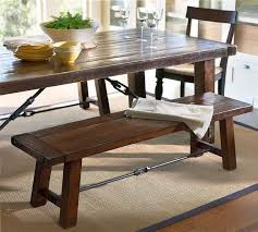 Bench Style Kitchen Tables Dining Room Rustic Dining Sets With Bench Seating Crafted From
