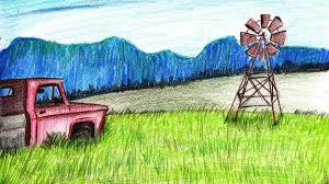 farm windmill drawing. How To Draw A Farm Windmill Scene - Step By Drawing G