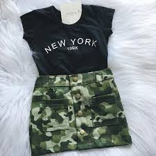 Details About Us Fashion Newborn Kid Baby Girl Top T Shirt Camouflage Skirt Mini Dress Clothes