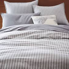 flannel arrow stripe dob duvet cover shams west elm pertaining to contemporary household flannel duvet cover remodel