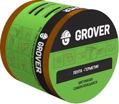 <b>Лента</b>-<b>герметик Grover битумная</b> коричневая 3м х 10см - купить в ...