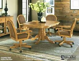 sensational ideas dining room chairs with casters and arms 19 lovely oak swivel chair sets