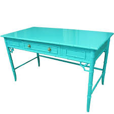 lacquered furniture. aqua lacquered faux bamboo desk writting table furniture c