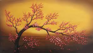 cerezo painting cherry tree by angel ortiz