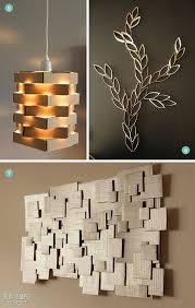 diy geometric cardboard wall caddy