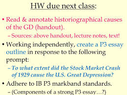 ib hoa unit day the causes of the american great 3 hw