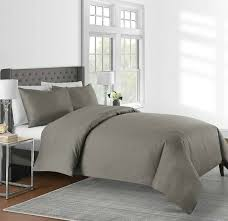 details about 625 thread count solid 3 piece king duvet cover set in mink