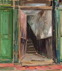 open door painting. Artwork Page. Louis Muhlstock Open Door Painting A