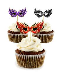 Masquerade Mask Cake Decorations