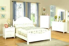 decoration: Wood Bed Frame Bedroom Sets For Girls Wooden White Twin ...