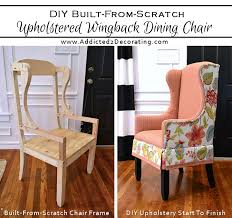 diy made from scratch upholstered wingback dining chair