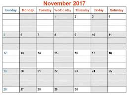 printable calendar november 2017 free design and templates