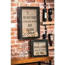 personalized letter metal wall wine cork holder art