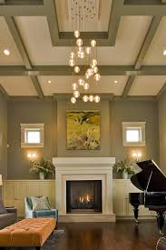 vancouver coffered ceiling designs with midcentury modern chandeliers living room transitional and recessed lighting