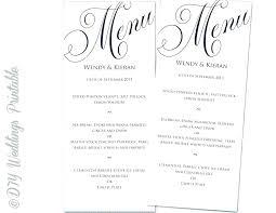 Menu Card Template Free Download Wedding Food Photo Free