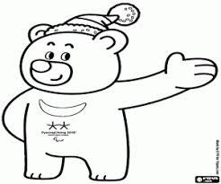 Kleurplaat Bandabi Pyeongchang 2018 Mascotte Kleurplaten
