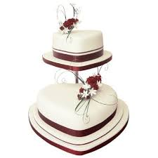 Heart Shaped Wedding Cakes Pin Two Tier Heart Wedding Cake Other