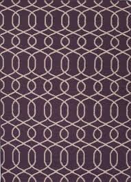 flat weave geometric pattern wool area rug interlaced in purple flat