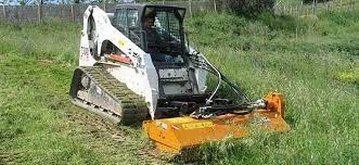 hydraulic mulcher for skid steer loader