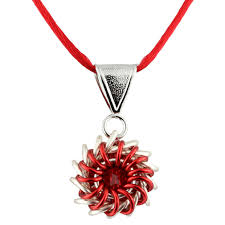chainmaille jewelry whirlybird necklace kit red jewelry kit jump ring jewelry