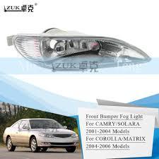 Zuk Fog Light Fog Lamp Front Bumper Light For Toyota Camry 2001 2002 2003 2004 Corolla Matrix 2004 2006 Solara 2001 2004
