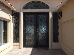 single wrought iron entry doors custom houston home regarding front with ironwork designs 8
