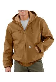 Carhartt Uj131 Usa Union Made Mens Duck Active Thermal Lined Jacket
