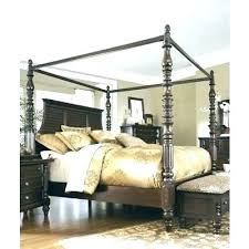 Wood Canopy Bed King Black King Canopy Bed Black Wood Canopy Bed ...