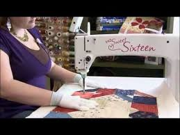 36 best Quilting Videos images on Pinterest | Knitting tutorials ... & Handi Quilter Sweet Sixteen long arm quilting machine sit-down package  includes table, LED light ring, bobbin winder and color touch screen  control. Adamdwight.com