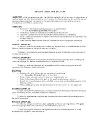 Generic Objective For Resume Gorgeous Generic Resume Objectives Simple Resume Template Format