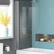 1000mm bath shower screen modern frameless designer glass bathroom panel bg01000