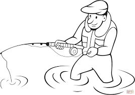 Small Picture Fisherman coloring page Free Printable Coloring Pages