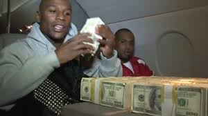 Image result for mayweather with his money