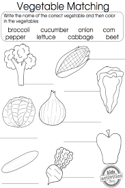 Vegetable Coloring Pages | Matching games, Worksheets and English