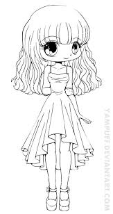 Chibi Cookie Girl Coloring Page On Pages Coloring Pages