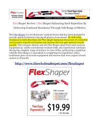 Easy Shaper Exercise Chart Flex Shaper Upper Body Toner