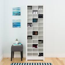 space saving storage furniture. Prepac White Space-Saving Shoe Storage Cabinet Space Saving Storage Furniture