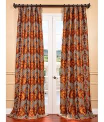 get borneo rust jacquard curtains ds at low