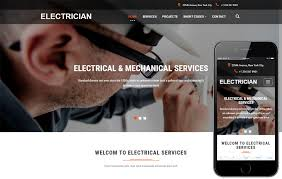 Bootstrap Website Electrician An Industrial Category Bootstrap Responsive Web
